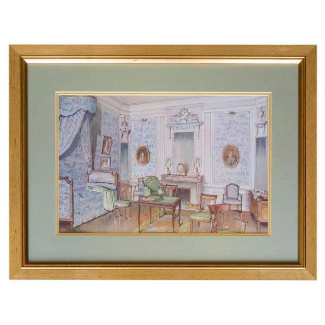 French Antique French Interiors Decor Prints - Set of Six For Sale - Image 3 of 8