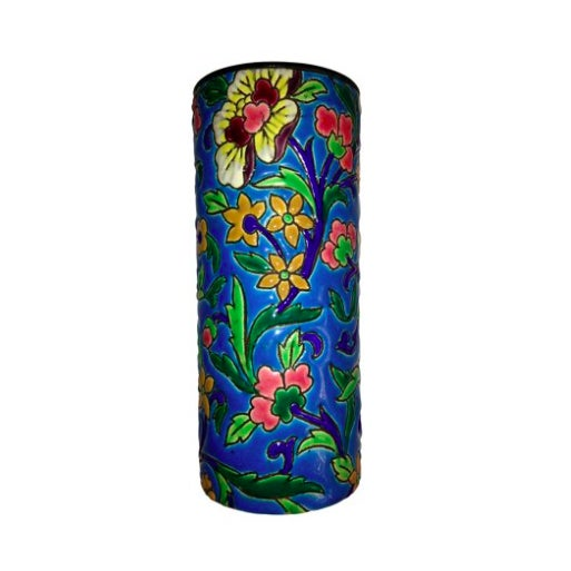 Antique French Floral Faience Vase - Image 2 of 3