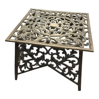 20th Century Boho Chic Brass Plant Stand For Sale
