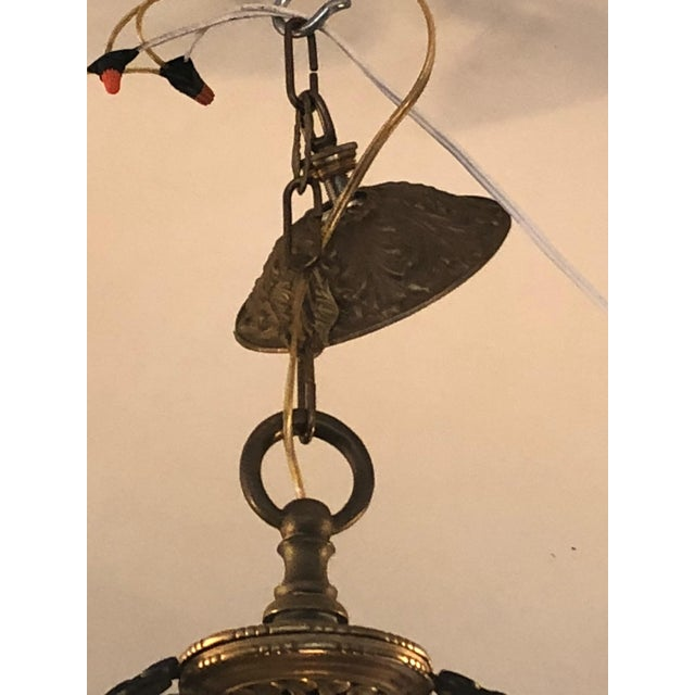 Pair of Extraordinary and Rare Medieval Style Antique Light Fixtures For Sale - Image 11 of 12