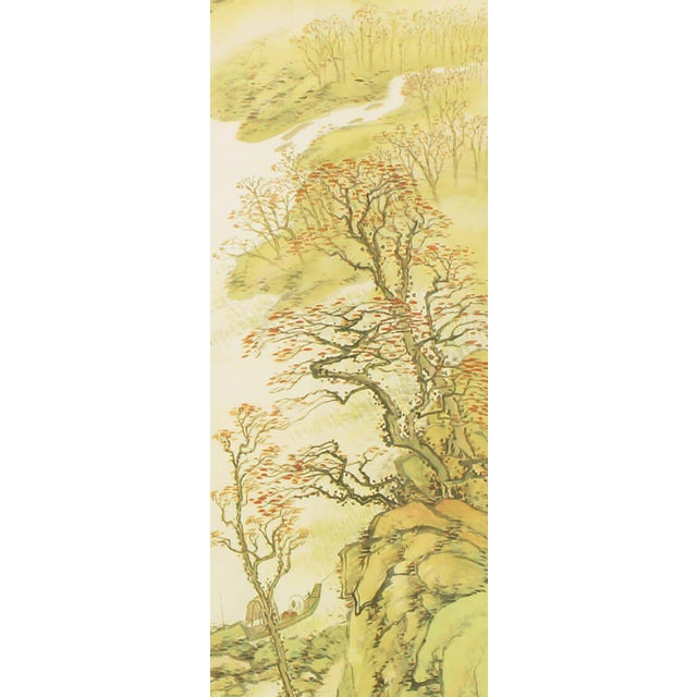 """Asian 67"""" Japanese Watercolor In Gilt Newcomb-Macklin Frame For Sale - Image 3 of 8"""