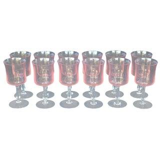 Vintage Pink Cordial Glasses - Set of 12