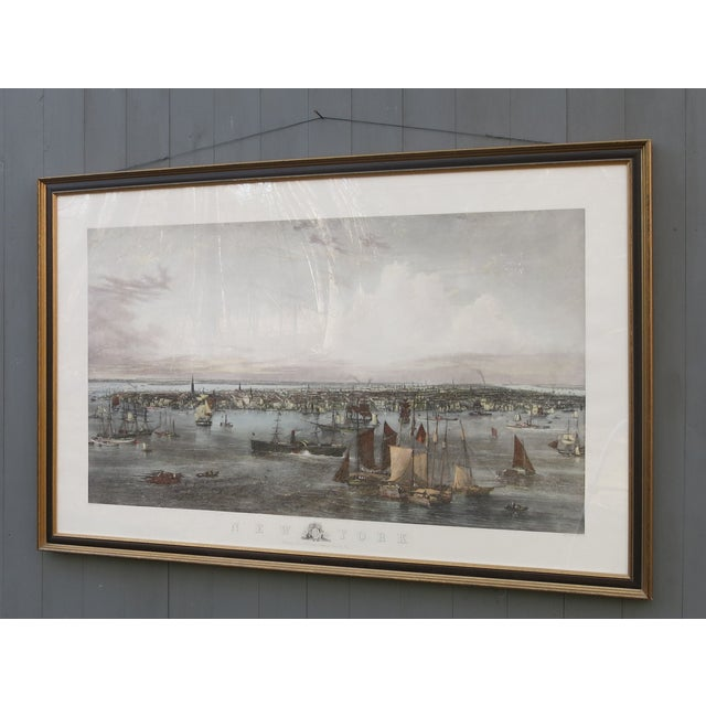 Gray New York Harbor Print by Jw Hill For Sale - Image 8 of 8