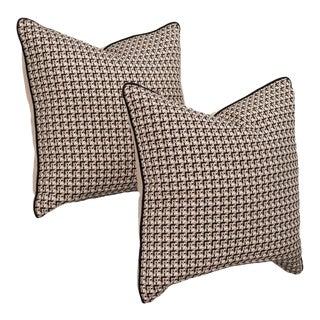Pair of Custom Tweed Bouclé Pillows For Sale