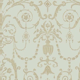 Cole & Son Palace Maze Wallpaper Roll - Olive & Gold For Sale