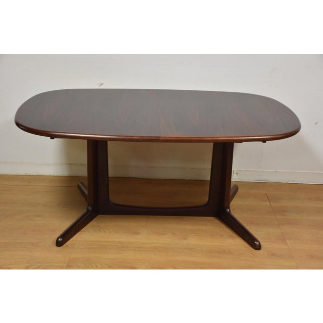 Danish Rosewood Dining Table - Image 10 of 11
