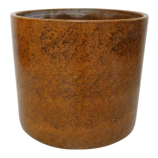Gainey Ceramics Mid-Century Modern Orange Planter