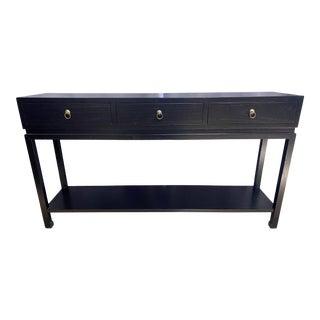 Gump's Black Livingston Console Table For Sale