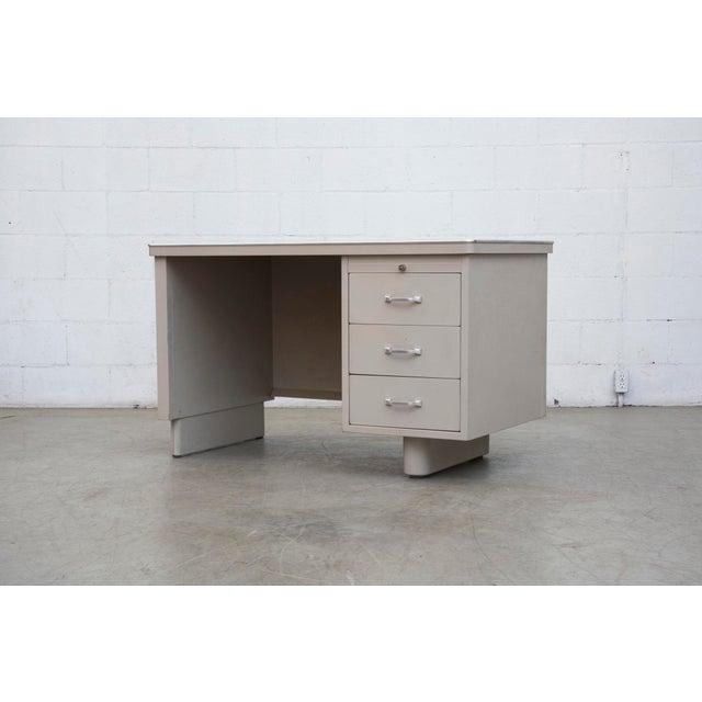 Industrial Metal Mini Tank Desk - Image 2 of 10