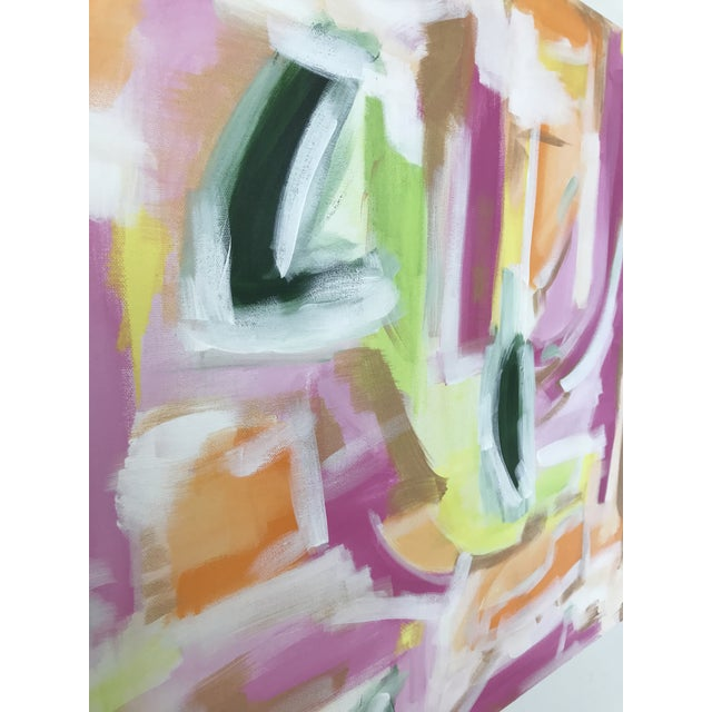 """""""Lenette"""" by abstract artist Christina Le Sesne Longoria. Original artwork completed in 2016, this unused and in good..."""
