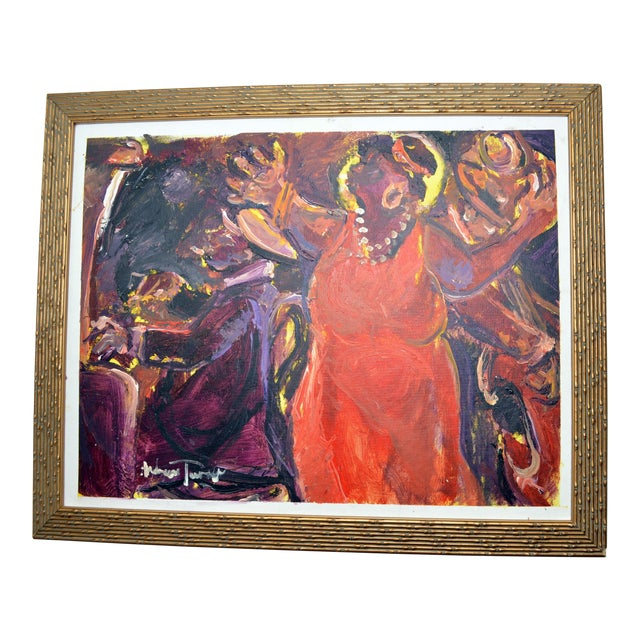 "1990s Oil Painting ""Hot Notes"" by Andrew Turner For Sale"