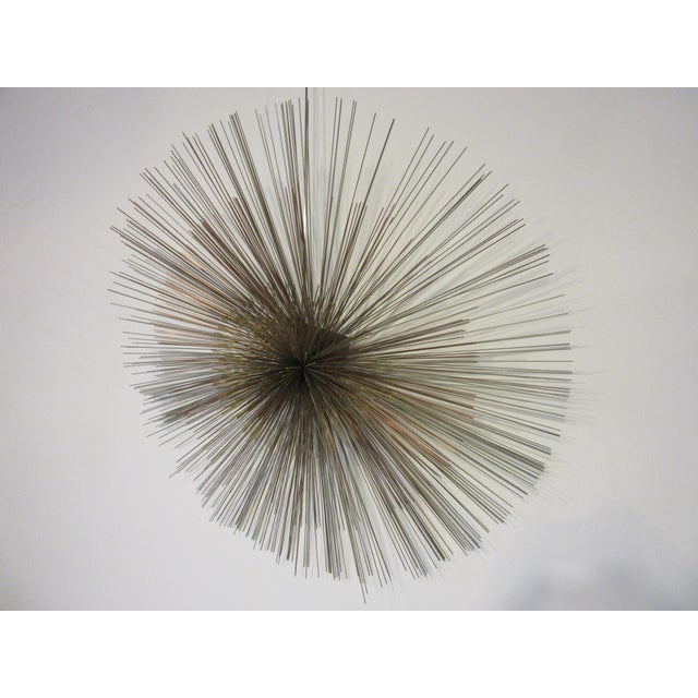 Mid-Century Modern Curtis Jere Metal Starburst Wall Sculpture For Sale - Image 3 of 8