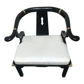 James Mont Century Black Lacquer Ming Chair