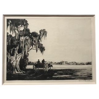 "Alfred Hutty ""Day's End"" Drypoint Print For Sale"