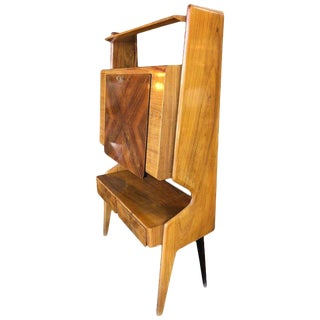 Italian Walnut Bar Cabinet by Vittorio Dassi, 1950s For Sale
