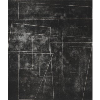 """Rob Delamater """"The Machine Age Ii"""" Black and White Monotype Print, 2014 2014 For Sale"""