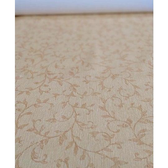Art Deco Beige Neutral Floral Wallpaper For Sale - Image 3 of 4