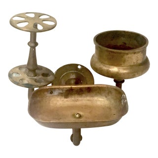 Vintage Brass Bathroom Wall Fixture For Sale