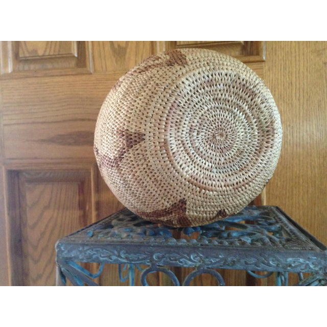 African Handmade Tribal Basket For Sale - Image 5 of 5