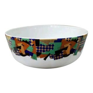 Late 1980's Heikki Orvola Festivo Design Porcelain Bowl Made in Sweden For Sale