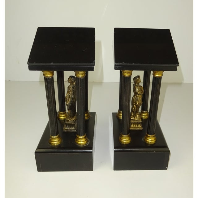 Belgian Miniature Marble & Bronze Temples - A Pair - Image 10 of 11