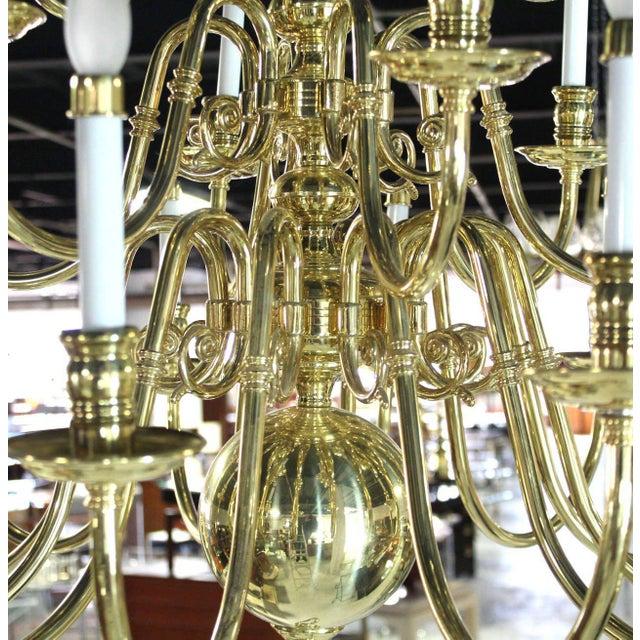 Vintage Brass Candelabra Chandelier For Sale In New York - Image 6 of 10