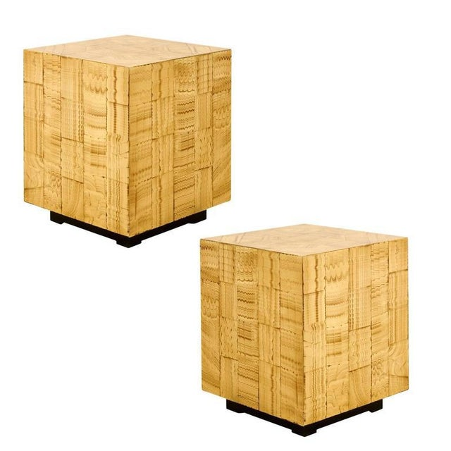 Pair of Hand Lacquered Cubes by Allesandro for Baker For Sale - Image 10 of 10