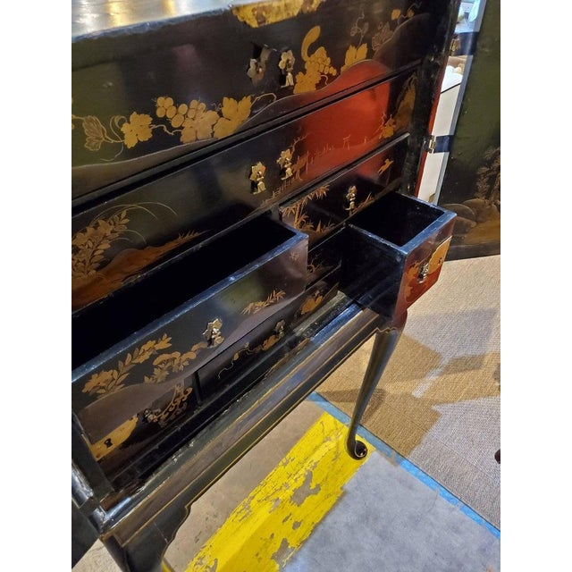 Metal 19th Century Japanese Tea Cabinet on Stand - 2 Pieces For Sale - Image 7 of 10
