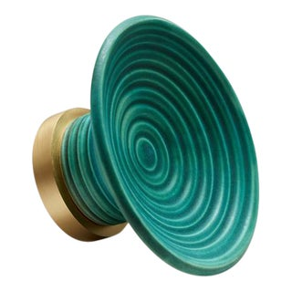 Glaze-02 Matte Teal Knob For Sale