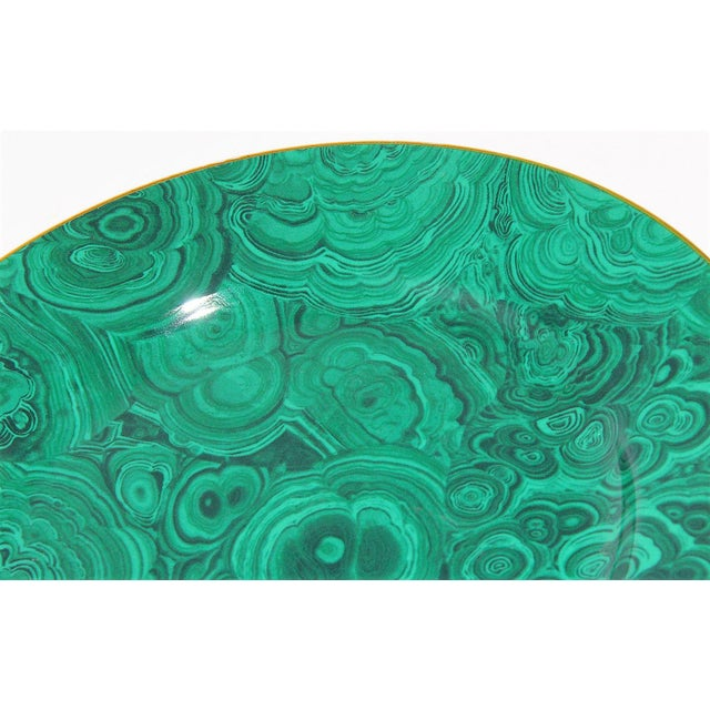 This is a beautiful Neiman Marcus Cake or Serving Plate in an emerald green faux malachite pattern. This plate is in great...