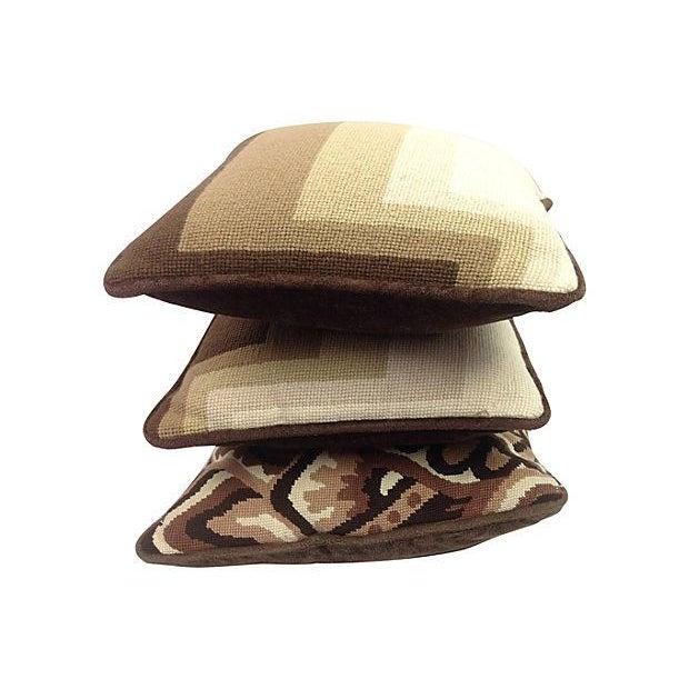 Mod Needlepoint Pillows - Set of 3 - Image 2 of 5