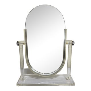 Vintage Lucite Vanity Mirror For Sale