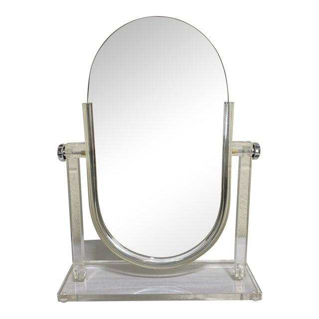 Vintage Lucite Vanity Mirror For Sale