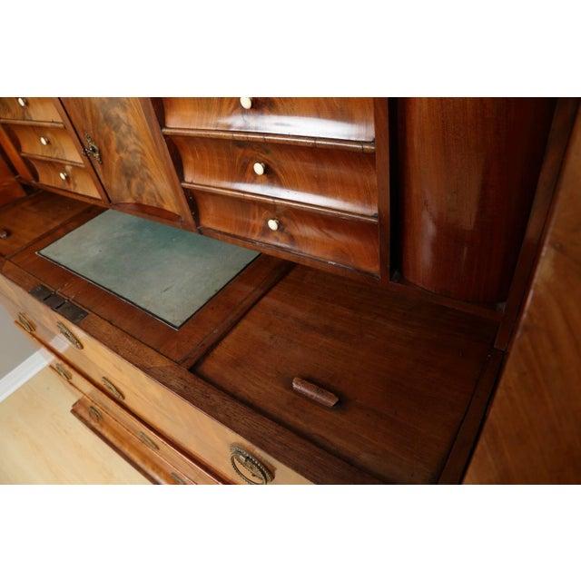 Biedermeier Mahogany Root Secretaire, Circa 1820 For Sale - Image 4 of 10