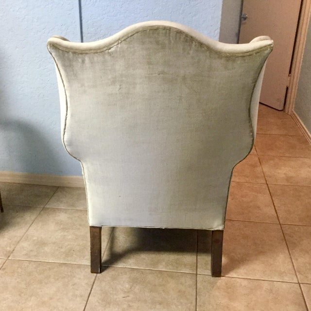 George III Style Mahogany Wing Chair For Sale - Image 4 of 7
