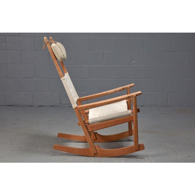 Mid-Century Modern Hans Wegner Keyhole Rocking Chair For Sale - Image 3 of 4