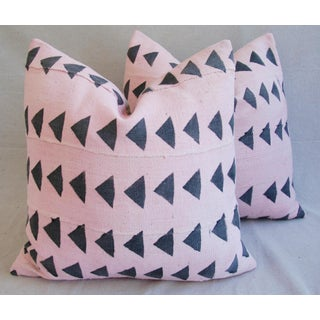 Pink & Charcoal Mali Tribal Mud Cloth Pillows - A Pair Preview