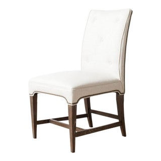 Claeys White Upholstered Chair For Sale