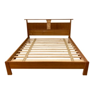 Eastern King Wood Castle Reflections Cherry Bed Frame For Sale