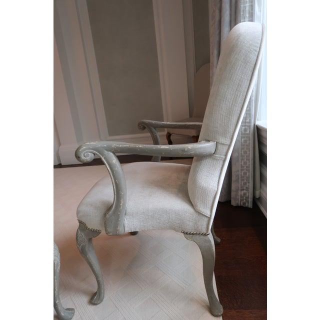 Belgian Antique Belgium Armchairs - a Pair For Sale - Image 3 of 12