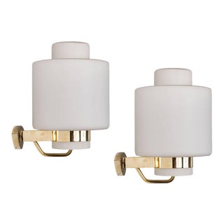1950s Stilnovo '2120' Brass and Glass Sconces