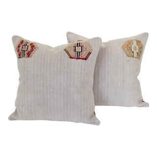 Turkish Kilim Cushions - A Pair For Sale