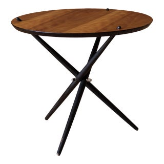 Vintage Hans Bellmann Round Tripod End Table for Knoll For Sale
