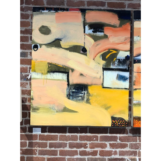 Original Abstract Diptych Painting - 2 Pieces For Sale - Image 4 of 5