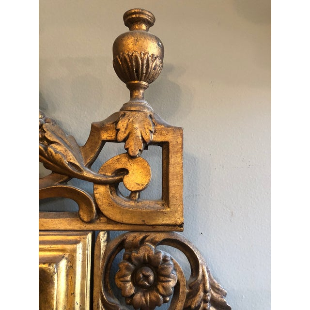 Gold Early 19th Century Antique Neo Classical Carved Wood Italian Gilt Mirror For Sale - Image 8 of 12