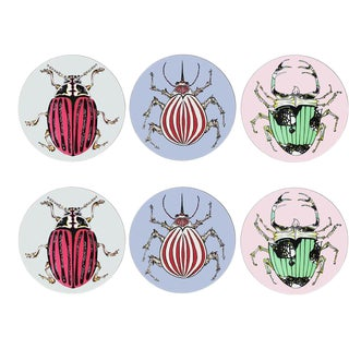 Set of 6 Beetle Placemats For Sale