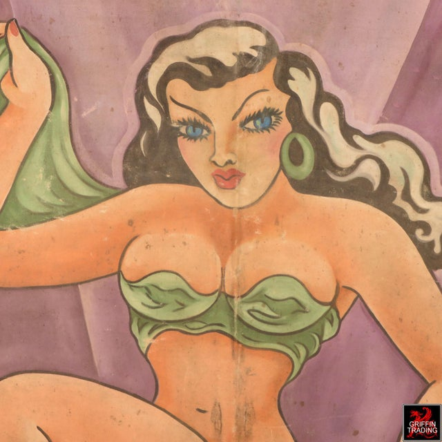 Americana Burlesque Performer Sideshow Banner For Sale - Image 3 of 13