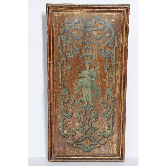 18th century Italian Neoclassical Paint and Parcel Gilt Panels / Roman Goddesses / Muses - Image 2 of 10