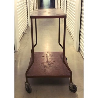 Vintage Industrial Wheeled Cart Preview