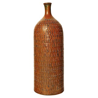 Tall Bottle-Form Vase by Stig Lindberg For Sale